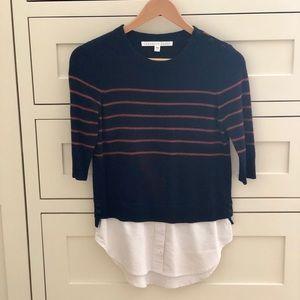 Veronica Beard Knot Mariner Oxford sweater
